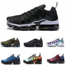 Paquete de vapor online-Nike Air TN Plus 2019 Vapors Designers TN Plus Olive In Metallic White Silver Shoes Men Shoes For Male Shoe Maxes Pack Triple Black Casual Shoes 36-45