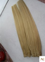 trama remy malese dei capelli ricci marroni Sconti Luce marrone dorato colore doppia trama malese vergine tessitura dei capelli 100% tessuto dei capelli umani 10-30 pollici trame di capelli lisci