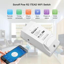 Sem fio desligar a luz on-line-Pow R2 Inteligente Módulo Interruptor de Controle Remoto Sem Fio Wi-fi Interruptor de Luz Da Temperatura Sensor de Umidade ON / Off Controlador para Smart Home Timer