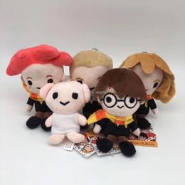 ursinhos brancos amor Desconto Harry Potter Stuffed bonecos de pelúcia brinquedos 2019 Nova Ron Malfoy Hermione Dobby Hedwig Chaveiros Pingentes Presentes Macios Brinquedos De Pelúcia 14 CM (5.5 polegada) L118