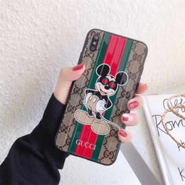 Personagens de uma peça on-line-Caso de telefone de luxo de uma peça para iphone 6s 7 8 p x xs adorável personagens de desenhos animados trunk designer phone case capa traseira