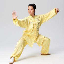 Chinesa Taichi roupas Kungfu uniforme taiji boxe desempenho terno veste roupa bordados para homens mulheres menino menina crianças adultos crianças de