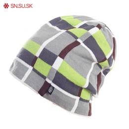2019 chapéus de lã para homens SN.SU.SK 2018 inverno Gorros gorras tampão de fio masculino Homens Mulheres chapéu de esqui gorros xadrez chapéu de lã gorros e toucas feminina chapéus de lã para homens barato