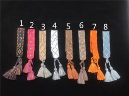 brazaletes de oro baratos 18k pulseras Rebajas Famoso diseñador de joyería de artesanía india americana pulseras tejidas amuleto bordado carta pulsera para las mujeres joyería de lujo
