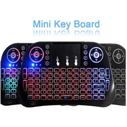 Yeni i10 Mini Klavye 2.4G Dokunmatik Kablosuz Klavye Fly Air Fare TV için Renkli Işıklar Touchpad Arka Set-Top Oyun PC dizüstü nereden