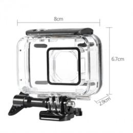 caméras sous-marines en gros Promotion Sous-marin 45 m boîtier de protection étanche pour Xiaomi Yi 2 4k action caméra gros cas étanche caméra d'action