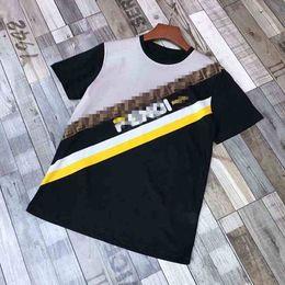 Canada 2019SSFENDT shirt d'été marque de mode broderie vêtements coton hommes T-shirt pour hommes Medusa étiquette O-cou T-shirt Asie choix parfait taille supplier perfect neck Offre