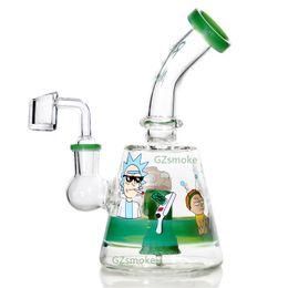 huile bang joint femelle Promotion bang en verre plate-forme pétrolière 5MM épaisseur quartz banger clou en verre bol pipe à eau bongs joint femelle 14,5 MM barboteur dab rig pipes