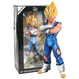 2019 bolo de banda desenhada Dragon Ball Z Grandista Majin vegeta / Super Saiyajin Goku Manga Dimensões de PVC Figura Collectible Modelo Brinquedo MX191105