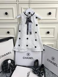 abiti romantici di cotone Sconti Bambini di estate di Cha 2019 vestaglie vestono il pannello esterno dolce del cotone del punto dell'onda del cotone dolce materiale interno