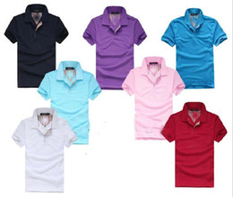 Cavalos de pólo on-line-2018 bordados verão cavalo camiseta polo homem 100% algodão polo camisas Pony shirt Sólidos Homens de manga curta Camisas Casual do homem T