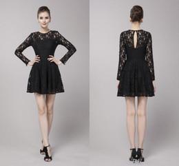 06c6c3ff6b33 vestiti eleganti di promenade neri eleganti Sconti Mini abiti da festa di  pizzo corto in pizzo