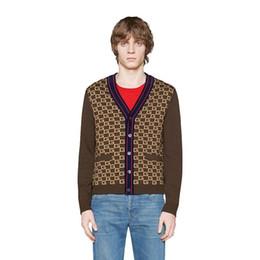 Argentina 19ss de lujo europeo Cardigan marrón lana Tiger CardiganFashion hombres y mujeres abrigo de alta calidad HFBYJK239 Suministro