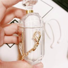 bottiglie di profumo di lusso Sconti Custodia protettiva di lusso delicata bottiglia di profumo per Airpod Custodia morbida in silicone TPU con supporto per cuffia di collana