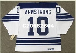 Uomo # 10 GEORGE ARMSTRONG Toronto Maple Leafs 1967 CCM Vintage Away Home Away Hockey Jersey o personalizzato qualsiasi nome o numero Retro Jersey da