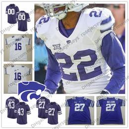 Maglia reggie marrone online-2019 Kansas State Wildcats # 2 Harry Trotter 6 Jordon Brown 33 Tyler Burns 51 Reggie Walker 83 Dalton Schoen Purple White Jersey 4XL