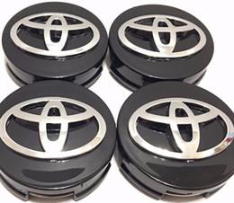 Radnabenkappen toyota online-100 Stück schwarz Radmitte Radkappen 62mm für Toyota DHL