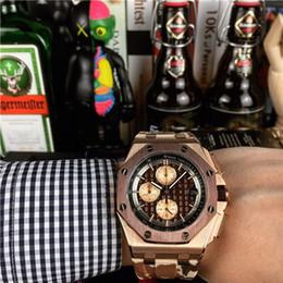orologi giapponesi oro Sconti Orologio di lusso in vendita uomini speciali Cinturino in caucciù Acciaio inossidabile Movimento al quarzo giapponese da uomo Orologi da polso