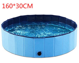 160 * 30cm Grande plastica pieghevole pieghevole pieghevole per bambini Pet Pool Pieghevole Pet Dog Swimming House Bed Summer Pool da cani in plastica letti fornitori