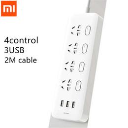 Xiaomi Power Strip 4 tomas Interruptores de control individuales 5v / 2.1a Carga rápida 3 tomas de extensión de puerto Usb Cargador 2m Cable H15 J190517 desde fabricantes
