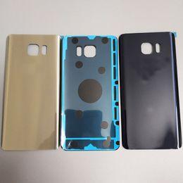 Samsung note estuche original online-100% original Samsung Galaxy Note5 Note 5 Volver Cubierta de batería Cubierta de cubierta de vidrio 3D para Samsung Note 5 Puerta Reemplazo de la caja trasera
