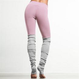 2019 collants d'entraînement roses Pantalon de yoga patchwork rose Fitness Fitness Collants de course maigres Leggings de yoga Collants de fitness pour femmes Workout Gym Pantalon de running