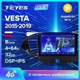 LADA Vesta Çapraz Sport 2015-2019 Araba Radyo Multimedya Video Player Navigasyon GPS, Android 8.1 Hiçbir 2DIN 2 din araba dvd için TEYES CC2 nereden