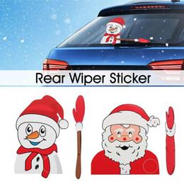2019 pegatinas de transformador Car Styling Christmas Waving Santa Claus Snowman Tags Decoración Rear Window Wiper Sticker Christmas Stickers