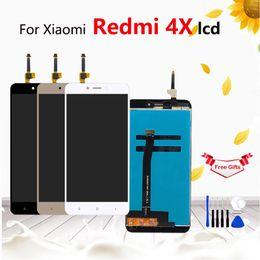 Pantalla de visualización xiaomi online-Para Xiaomi Redmi 4X Pantalla LCD Pantalla táctil Reemplazo del ensamblaje del digitalizador con marco Para Xiaomi Redmi 4X 5.0 pulgadas