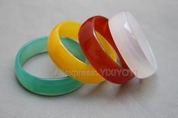 bracciali di agata gialla Sconti Bella naturale rosso bianco giallo verde agata giada bambini fortunati per bambini braccialetto affascinante per bambini regalo braccialetti gioielli raffinati 44-48mm