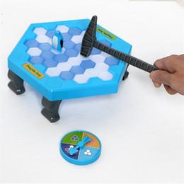 Giocattoli di interazione online-Salva Penguin Building Blocks Icebreaker Toy Bricks Cartoon Beat Gioco Parent Child Interaction Intelligent Desktop Toys 4 8sl C1