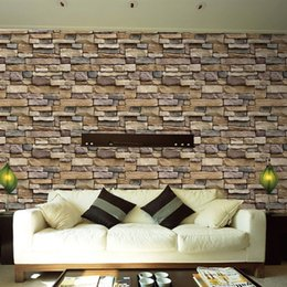 2019 pintura a óleo fundo preto 3D pedra tijolo papel de parede removível pvc adesivo de parede home decor art papel de parede para quarto sala de estar fundo decalque
