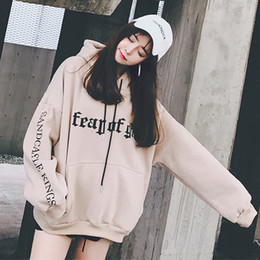 wellen-sweatshirt Rabatt Sweatshirt weibliche koreanische Mode der Welle der Studenten lose Bf Hoodie Ulzzang Jacke Frühling neu kommen 2018 an