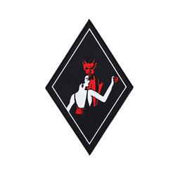 design patch per i vestiti Sconti Danza con il diavolo grande toppa posteriore ricamo patch per MC Biker Jacket Vest ferro su abbigliamento design personalizzato Badge