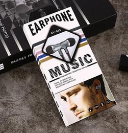 microphones dirigés Promotion CY-035 Vente directe de nouveau type d'écouteurs à oreille à commande filaire avec microphone, casque stéréo universel, écouteurs pour téléphone portable