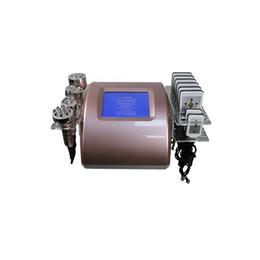Laser tripolar online-La más nueva máquina de adelgazamiento RF 6 en 1 2019 con láser Lipo + cavitación doce-polar + vacío bipolar + RF seis-polar + tripolar