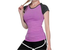 camicia di compressione Sconti T-Shirt da Donna T-Shirt Elastico Asciugamano Compressione Asciugatura Rapida Top Tops Sport Fitness T-Shirt Yoga Yoga Shirt Crop Top # 278649