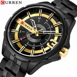 CURREN новая мода мужчины кварцевые часы уникальный дизайн циферблат из нержавеющей стали группа топ мужские случайные часы Relogio Masculino от