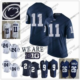 8664e61f348 Penn State Nittany Lions #11 Micah Parsons no name Jersey 1 KJ Hamler 26  Barkley McSorley 2 Marcus Allen PSU Navy Blue White