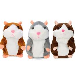 2018 Hablar Hamster Mouse Mascota de juguete de peluche Aprender a hablar Registro eléctrico Hamster Educativo Niños Juguetes de peluche de regalo 15 cm desde fabricantes