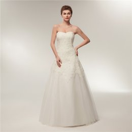 4fd5ad306b tube wedding gowns Coupons - Simple A-line Wedding Dresses Tube Top Lace  Thin Mesh