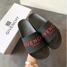 zapatillas de casa moradas Rebajas Diseñador Caucho desliza sandalias unisex zapatillas fondos suaves Jvenci Flip Flops mujer rayas playa causal zapatilla con caja US5-11