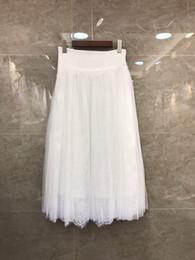 Jupe en dentelle en gazon blanc en Ligne-À l'été 2019, nouvelle jupe en dentelle de gaze blanche pour femmes, vêtements 428