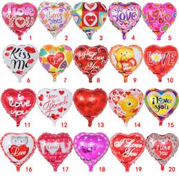 18 pouces gonflable fête de la Saint-Valentin ballons de décorations bulle en aluminium film ballon je t'aime coeur ballons jouets fournitures B11 ? partir de fabricateur