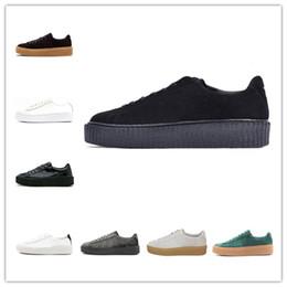 c3f3c725110b PUMA 2019 Rihanna Fenty Creeper PM Classique Panier Plate-forme Chaussures  Casual Chaussures De Velours En Cuir Craquelé Daim Hommes Femmes Mode Hommes  ...