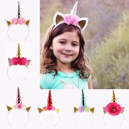 pink hair bow pearls Promo Codes - Children Cat Ears Horn Bow Pearl Hair Sticks Kids Horn Hair Sticks Glitter Hairband Party Cat Ears Hair Sticks 61