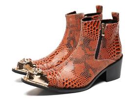 2019 sapatos de vestido de homens de bolinhas homens de pele de crocodilo de luxo vestir sapatos de salto alto sapatos de couro com pontas de metal apontou sapatos de alta dos homens oxfords dos homens zip homens botas de tornozelo sapatos de vestido de homens de bolinhas barato
