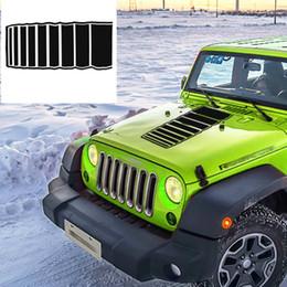 decalques jeep Desconto Etiqueta do Hoodie do carro para Jeep JJ TJ YJ Listras Auto Decalque Do Vinil Adesivo Decalques Decoração Do Carro Do Exército Adesivo Exterior do exército