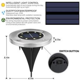 proyectores de tierra Rebajas 8 Luces solares LED Lámparas subterráneas Versión mejorada Jardín subterráneo Iluminación exterior Proyector a prueba de agua para el patio de casa Driv