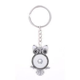 fit key ring Promo Codes - Interchangeable Top Popular 028 Fashion Metal Key Chains Fit 18mm Snap Button Keychain Jewelry For Men Women Key rings Gift